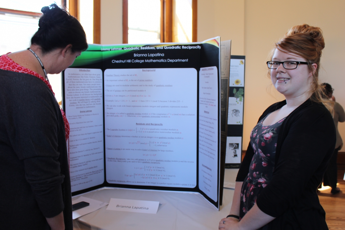 Brianna Lapatina -- Mathematics (with Kerry Rusak, left, associate director of residence life)