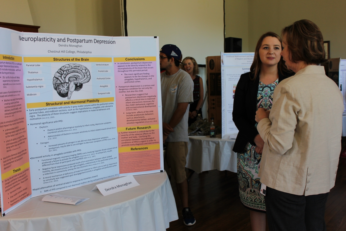 Deirdra Monaghan -- Psychology (with Kathy Gannon, right, Logue Library assistant)
