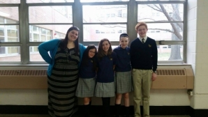 Alyssa Cherewaty '13 with some of her students from St. Joseph the Protector School.