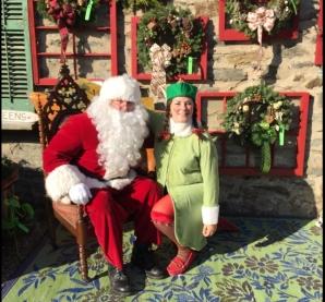 Brielle Frasca and Santa