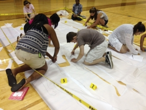 Students learn authentic forensics techniques during last summer's Forensic Sciences Camp.