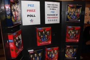 Presidential Pez dispensers were popular.