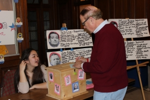 David Contosta, Ph.D., professor of history, votes during Election Palooza.