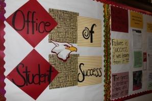 Office of Student Success bulletin board.