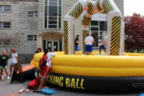 The Wrecking Ball provides hours of fun at Springfest.