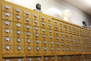 Logue Library card catalogs