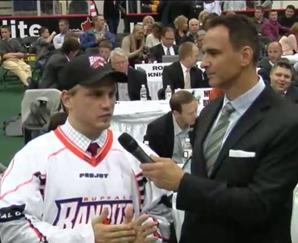 Michael Melnychenko '14 (in sports jersey)