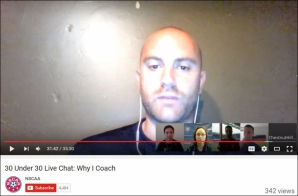 Julian Fernandez '11, head men's soccer coach, is interviewed on YouTube.