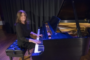 Meral Güneyman warms up prior to her April 20 performance.