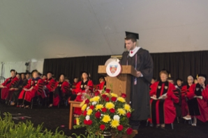Colin Boyle '15 welcomed his fellow graduates.