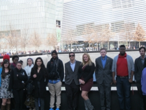 Global Studies students visit the 9-11 Memorial in New York.