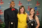 Athletic Directors Award winners Noel Hightower and Nicole Carney