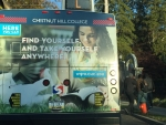 Cristina on the bus