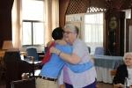 Joey Galantuomo '17 and Sister Meg share a hug