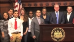 CHC and Temple students pose together following the debate