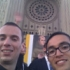 Chris with friend at National Shrine